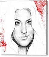 Debra Morgan Portrait - Dexter Canvas Print