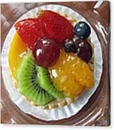 Decadent Fruit Tart Canvas Print