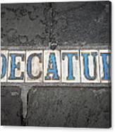 Decatur Canvas Print