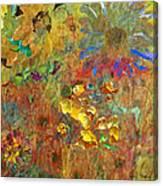 December Remembering Summer Flowers Canvas Print