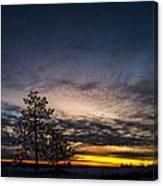 December Sunset Canvas Print