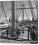 Deck Of Balclutha 3 Masted Schooner - San Francisco Canvas Print