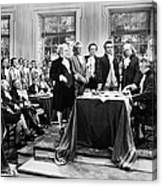 Declaration Of Independece Canvas Print