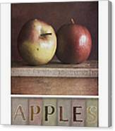 Deco Apples Canvas Print