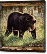 Deco Black Bear Canvas Print