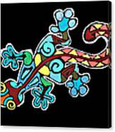 Deco Gecko Canvas Print