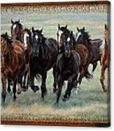 Deco Horses Canvas Print