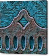 Deco Metal Blue Canvas Print
