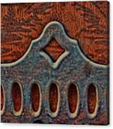 Deco Metal Red Canvas Print