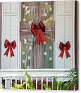 Decorated Christmas Window Key West Canvas Print