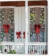 Decorated Christmas Windows Key West  Canvas Print