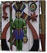 Decoration On Wooden Door In Lansdowne Canvas Print