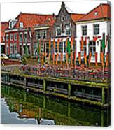 Decorations For Orange Day To Celebrate The Queen's Birthday In Enkhuizen-netherlands Canvas Print
