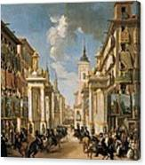 Decorations Of Plater�as Street Canvas Print