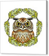 Decorative Illustration With An Owl Canvas Print