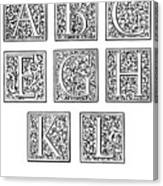 Decorative Initials, C1600 Canvas Print