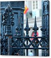 Decorative Iron Fence In New Orleans Canvas Print