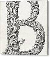 Decorative Letter Type B 1650 Canvas Print