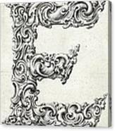Decorative Letter Type E 1650 Canvas Print