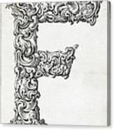 Decorative Letter Type F 1650 Canvas Print