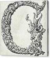 Decorative Letter Type G 1650 Canvas Print
