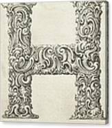 Decorative Letter Type H 1650 Canvas Print