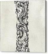 Decorative Letter Type I 1650 Canvas Print