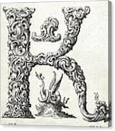 Decorative Letter Type K 1650 Canvas Print