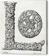 Decorative Letter Type L 1650 Canvas Print
