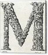 Decorative Letter Type M 1650 Canvas Print