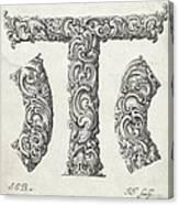 Decorative Letter Type T 1650 Canvas Print