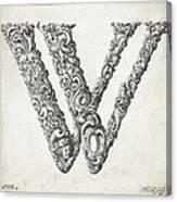 Decorative Letter Type W 1650 Canvas Print