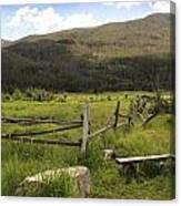 Decrepit Fence Canvas Print