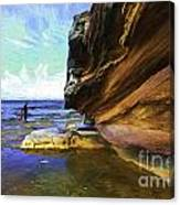 Dee Why Headland with sandstone cliff Canvas Print