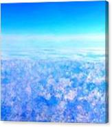 Deep Blue Sky And Clouds Canvas Print