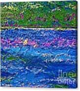 Deep Blue Texture Abstract Canvas Print