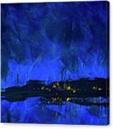 Deep Blue Triptych 2 Of 3 Canvas Print