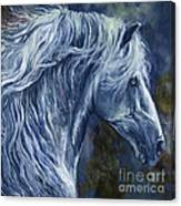 Deep Blue Wild Horse Canvas Print