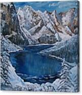 Deep Dark  And Cold Canvas Print