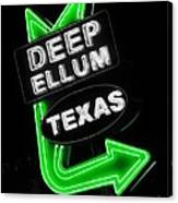 Deep Ellum In Green Canvas Print