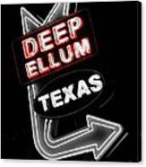 Deep Ellum In Red Canvas Print