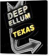 Deep Ellum In Yellow Canvas Print