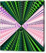 Deep Green And Pink Canvas Print
