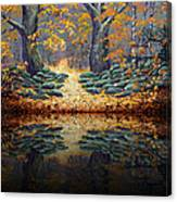 Deep Pond Reflections Canvas Print
