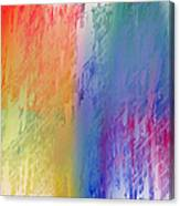 Deep Rich Sherbet Abstract Canvas Print