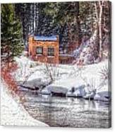 Deep Snow In Spearfish Canyon Canvas Print
