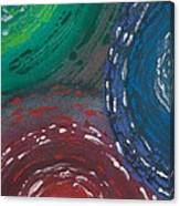 Deepen Abstract Shapes Canvas Print