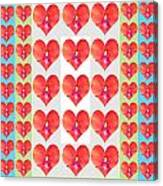 Deeply In Love Cherryhill Flower Petal Based Sweet Heart Pattern Colormania Graphics Canvas Print