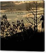 Deer Silhouette Canvas Print