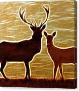 Deers Lookout Canvas Print